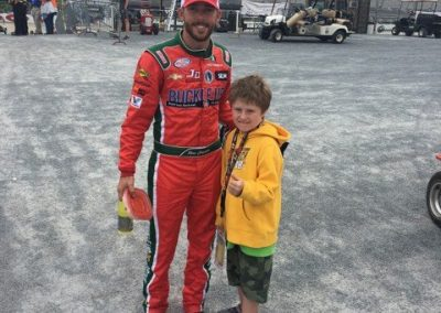 Ross Chastain with Ethan Janney whose a BIG Fan of Ross Chastain!